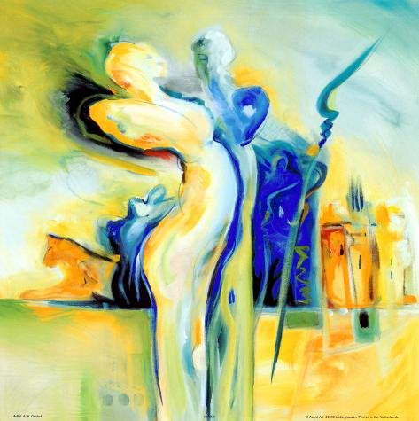 Romance in an Exotic Place Art Print