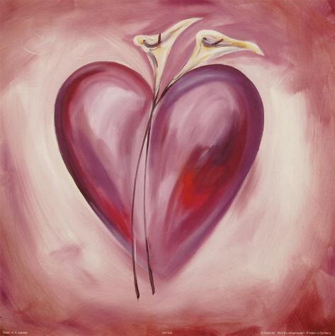 Shades of Love: Lavender Art Print