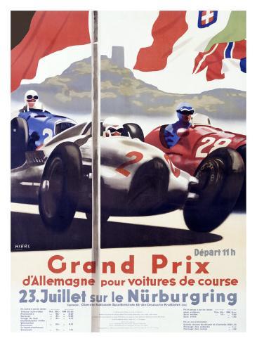 Grand Prix d'Allemagne Giclee Print