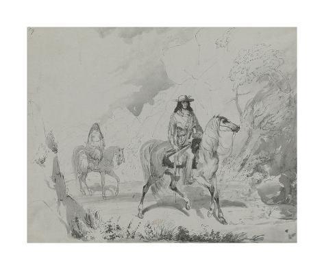 A Bourgeois of the Rocky Mountains, c.1837 Lámina giclée prémium