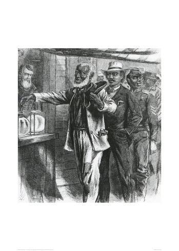 The First Vote, 1867 Stampa giclée