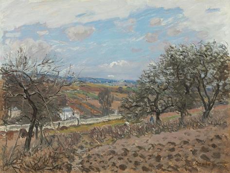 Bougival, 1876 Lámina giclée