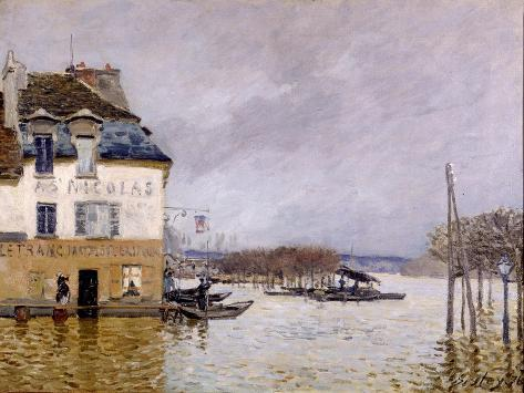l 39 inondation port marly giclee print by alfred sisley. Black Bedroom Furniture Sets. Home Design Ideas