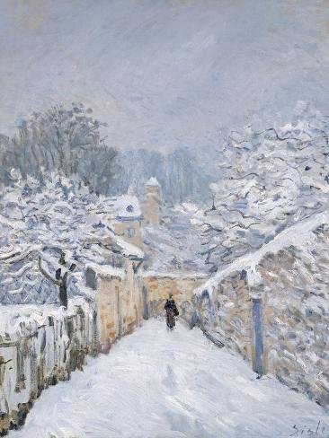 Snow at Louveciennes, 1878 Giclee Print