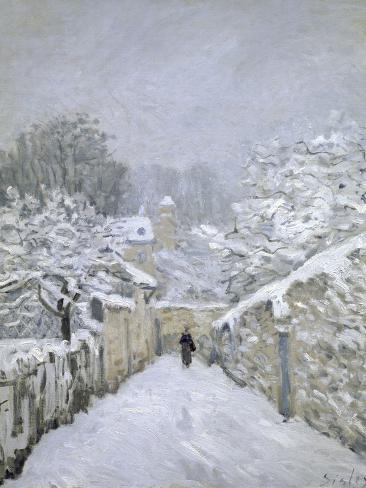 Snow in Louveciennes Giclee Print