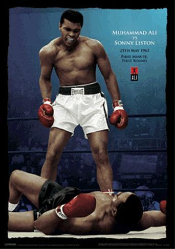 Ali vs Liston - Color - 3D Poster 3 Dimensional Poster