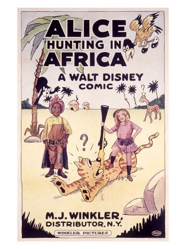 Alice Hunting in Africa, a Walt Disney Comic Giclee Print