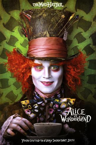 Alice in Wonderland Movie Mad Hatter Poster Print Poster