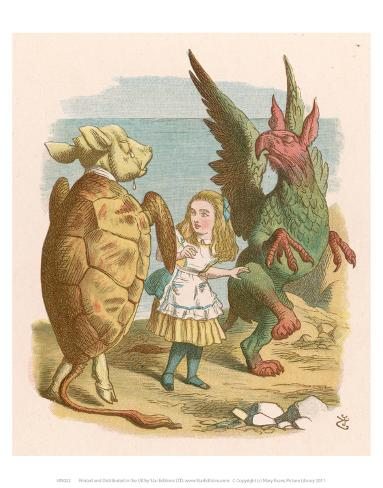 Alice in Yellow Art Print