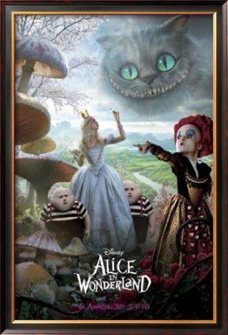 Alice no País das Maravilhas Impressão artística emoldurada