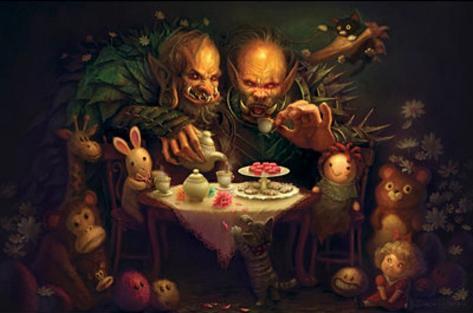 Alice Tea Party Fantasy Art Print Poster Poster