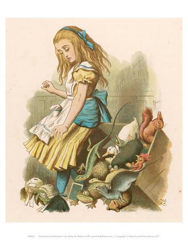 Alice with squirrel Art Print