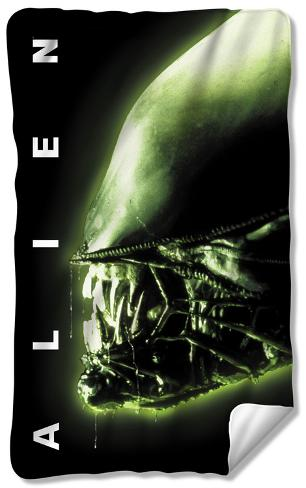 Alien - Head Fleece Blanket Fleece Blanket