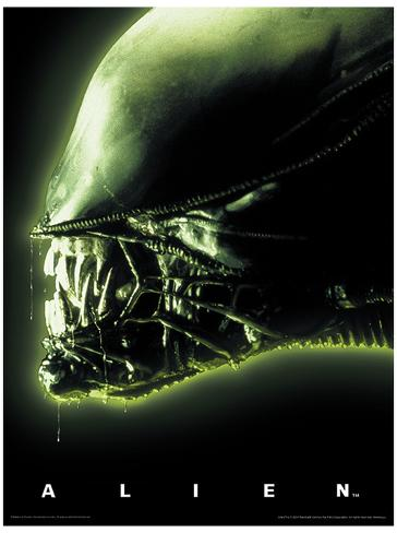 Alien- Head Green Masterprint