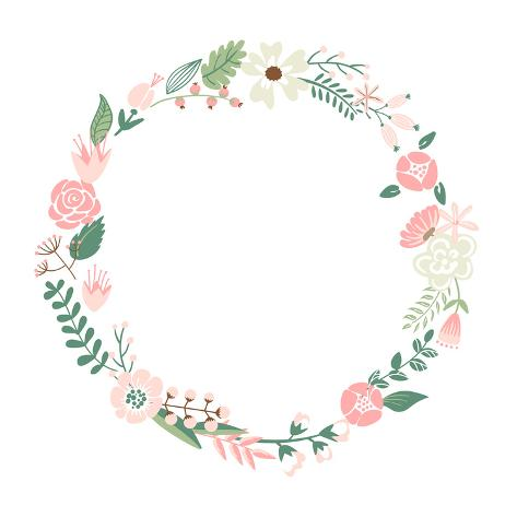Floral Frame Posters by Alisa Foytik at AllPosters.com