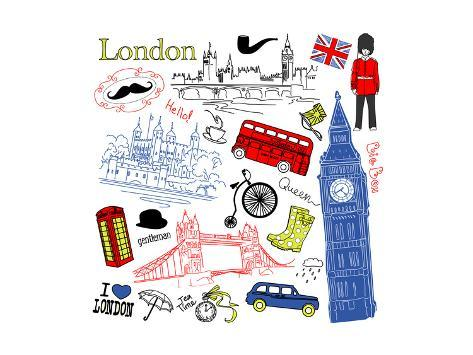 London Doodles Art Print