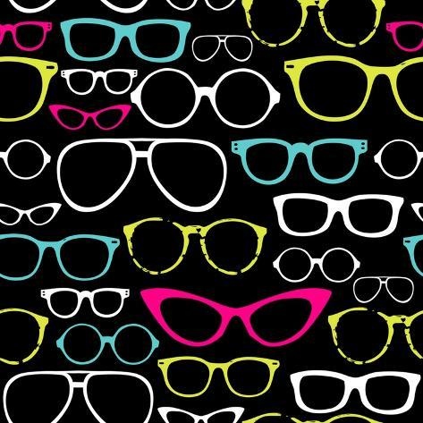 Retro Seamless Spectacles Art Print