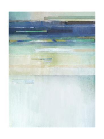 Blue Lapis Waterfall II Art Print