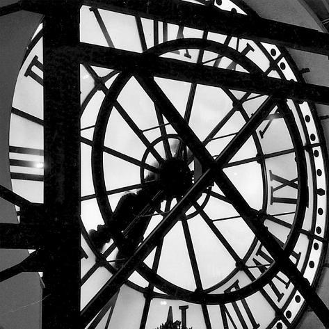 Paris Clock II Konstprint