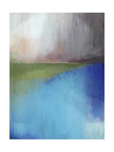 Peaks Bay II Art Print