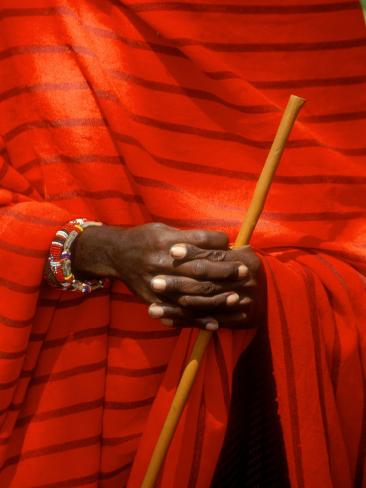Maasai Teacher, Esetiti Nursery School, Amboseli National Park, Kenya Photographic Print