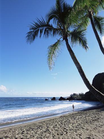 Beach, Hana Coast, Maui, Hawaii, Hawaiian Islands, United States of America, Pacific, North America Photographic Print