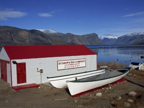 Hudson Bay Company Building, Pangnitung, Baffin Island, Canadian Arctic, Canada, North America Photographic Print