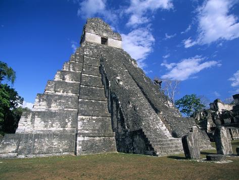 Pyramid at Tikal Photographic Print
