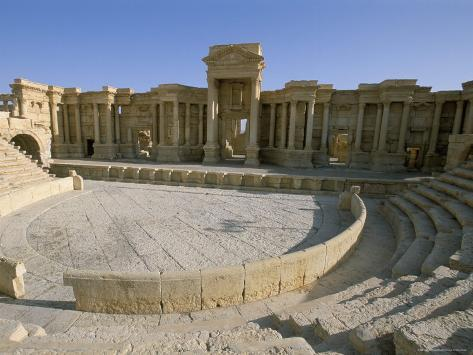 Theatre, Archaeological Site, Palmyra, Unesco World Heritage Site, Syria, Middle East Photographic Print