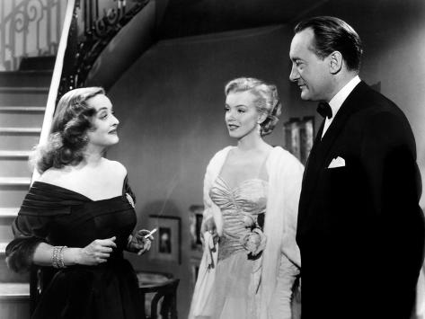 All About Eve, Bette Davis, Marilyn Monroe, George Sanders, 1950 Photo