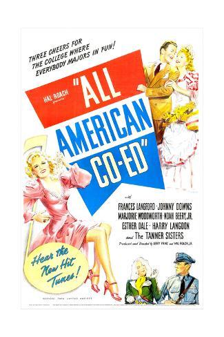 All American Co-Ed Art Print