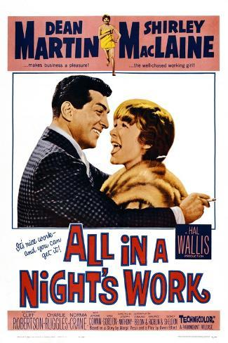 All in a Night's Work, 1961 Art Print