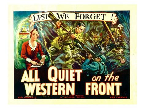 All Quiet on the Western Front, Poster Art, 1930 写真