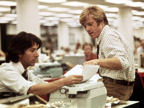 All The President's Men, Dustin Hoffman, Robert Redford, 1976 Photo