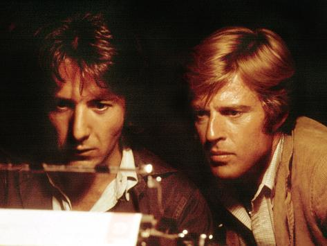 All The President's Men, Robert Redford, Dustin Hoffman, 1976 Photo