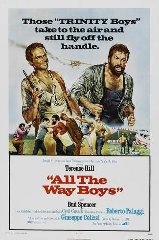 All the Way Boys, US poster, Terence Hill, Bud Spencer, 1972 Art Print