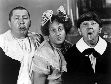 All the World's a Stooge, Curly Howard, Larry Fine, Moe Howard, 1941 Photo