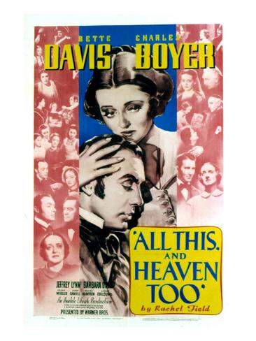 All This and Heaven Too, Bette Davis, Charles Boyer, 1940 Photo