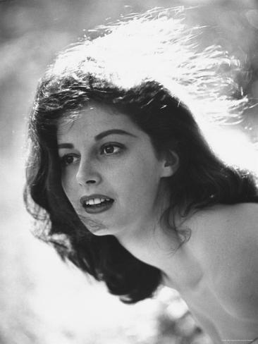 Actress Pier Angeli, 22, Posing in the Woods Premium Photographic Print
