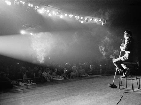 Entertainer Dean Martin on Stage Premium Photographic Print