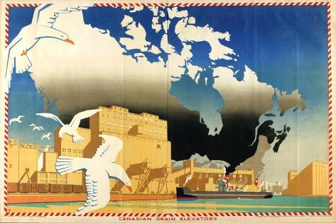 Canadian Grain Elevators Giclee Print