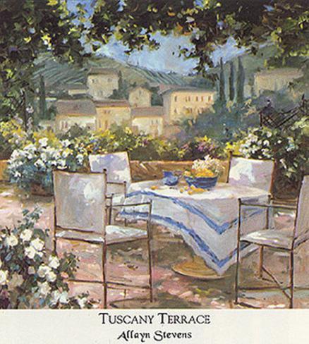 Tuscany Terrace Art Print