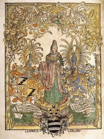 Allegorical Figure of Mainz, 1486 Giclee Print
