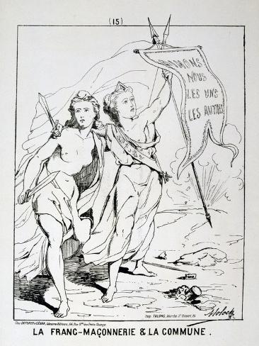 Allegory of 'La Franc-Maconnerie Et La Commune, Paris Commune, 1871 Giclee Print