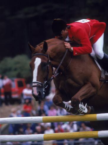 Horse Jumping, San Francisco, CA Photographic Print