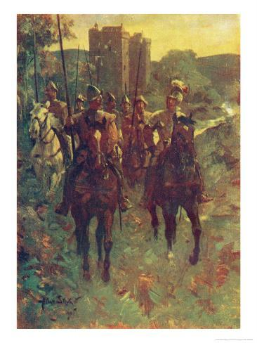Scottish Reivers Setting out to Raid Cattle Across the Border with England Giclee Print