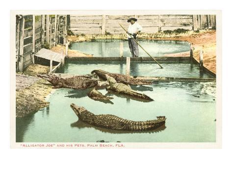 Alligator Joe, Palm Beach, Florida Art Print