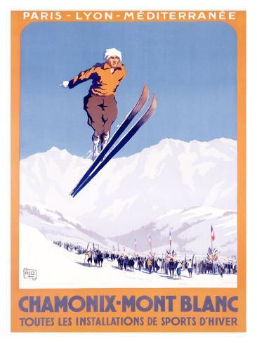Chamonix, Mont-Blanc Giclee Print