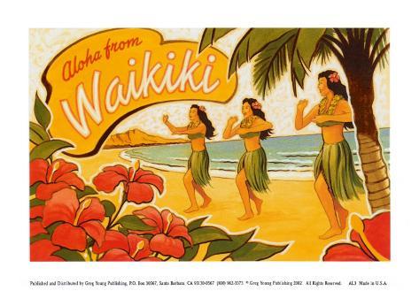 Aloha from Waikiki Art Print