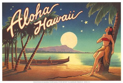 Aloha Hawaii Art Print